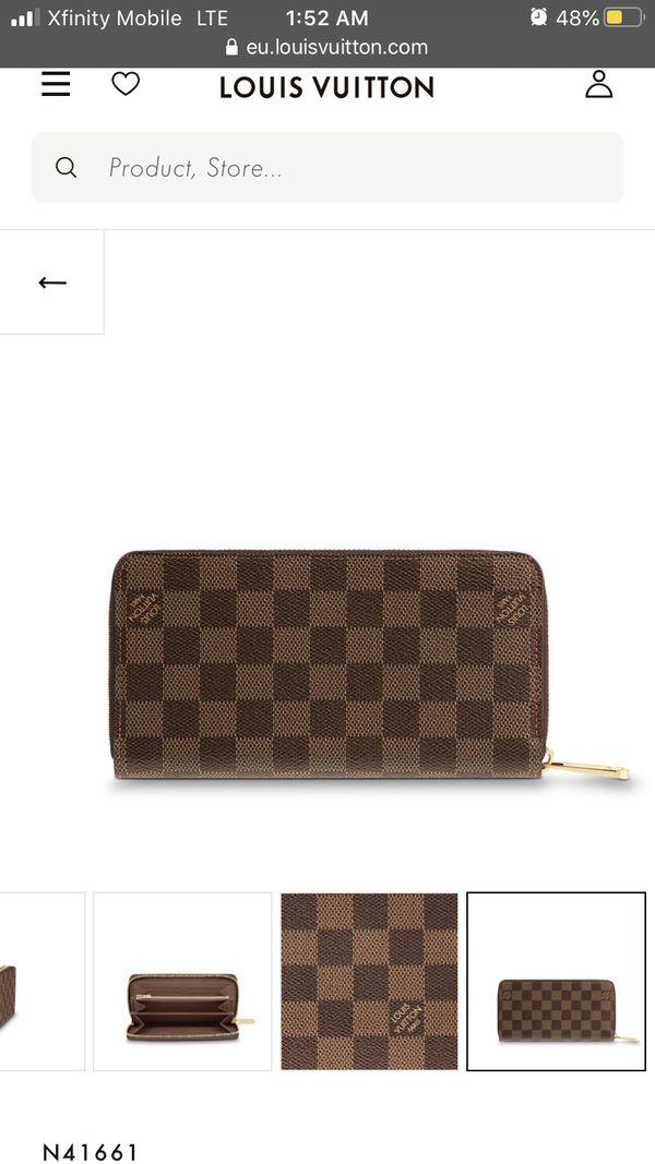 Monogram Zipper wallet