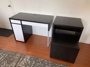 Desk and printer cabinet for Sale in Los Angeles, CA