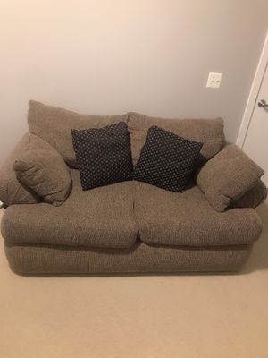 Big grey loveseat/sofa with four pillows for Sale in Washington, DC