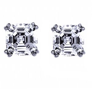 Asscher-cute Stud Earring for Sale in New York, NY