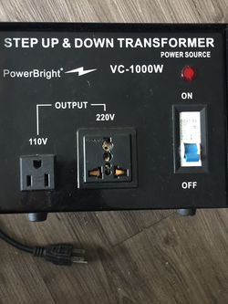 Power Bright 1000W Upstep/Downstep Transformer for Sale in Dallas,  TX