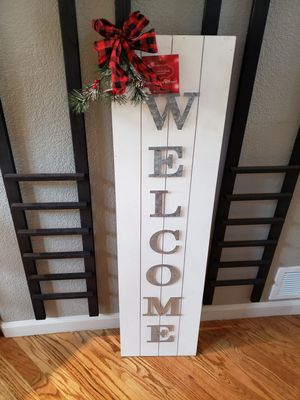 """WELCOME Wall/Door Decor Shiplap Sign 12""""×45.5"""" height for Sale in Arvada, CO"""