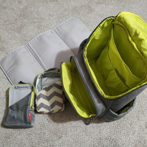 Backpack Diaper Bag, Grey for Sale in Queen Creek, AZ