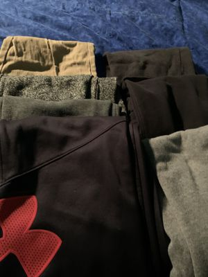 7 pair of boys pants. Most are sweats. Size M & L for Sale in Bellefonte, PA