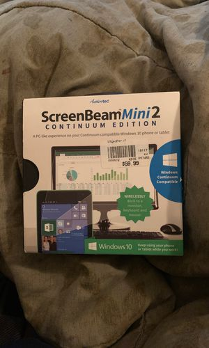 Screenbeam mini 2 continuum edition for Sale in Bronx, NY