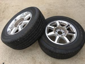 2rims and 2tires 235/60/16 good year viva 3 all season for Sale in Tea, SD