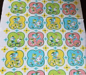 Used, Vintage kitschy fabric for Sale for sale  Skokie, IL