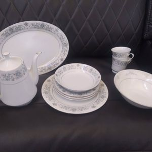 Antique China Dinnerware Set Serves 12 for Sale in Pflugerville, TX
