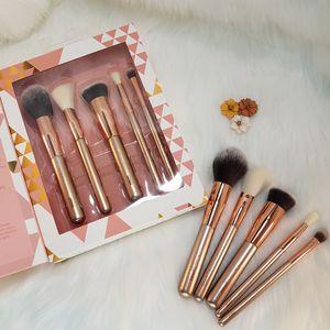 Makeup Brush Set Face & Eyes 5 pcs Brushes Set de Brochas de Maquillaje Ojos Rostro for Sale in Houston, TX