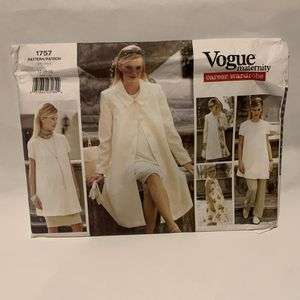 Vogue 1757 sewing pattern Maternity COAT DRESS TUNIC SKIRT PANTS Career 12,14,16 for Sale in Mesa, AZ