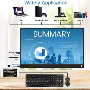 Portable Monitor 15.6 Inch Full HD USB C HDMI Computer Display Dual Monitor with Speaker for Laptop Computer Phone Gaming Monitor for PS3 PS4 Xbox for Sale in Ontario, CA