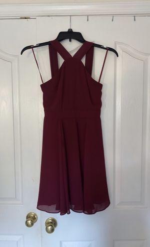 Lulus Forevermore Burgundy Skater Dress - Size M for Sale in Olney, MD