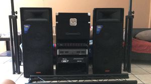 PATRON PRO AUDIO PSD3000 DJ SET with DJ LIGHTING STAND (LIGHTS NOT INCLUDED) for Sale in National City, CA