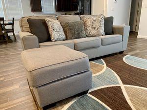 Grey sofa with ottoman! for Sale in Niederwald, TX
