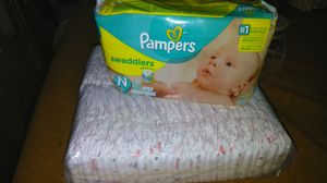 Pampers and Huggies newborn diapers for Sale in Long Beach, CA