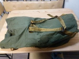 Awesome vintage military duffle bag with back pack straps tool bag sports bag for Sale in Virginia Beach, VA