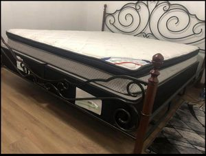 King size bed frame and mattress for Sale in Erie, PA