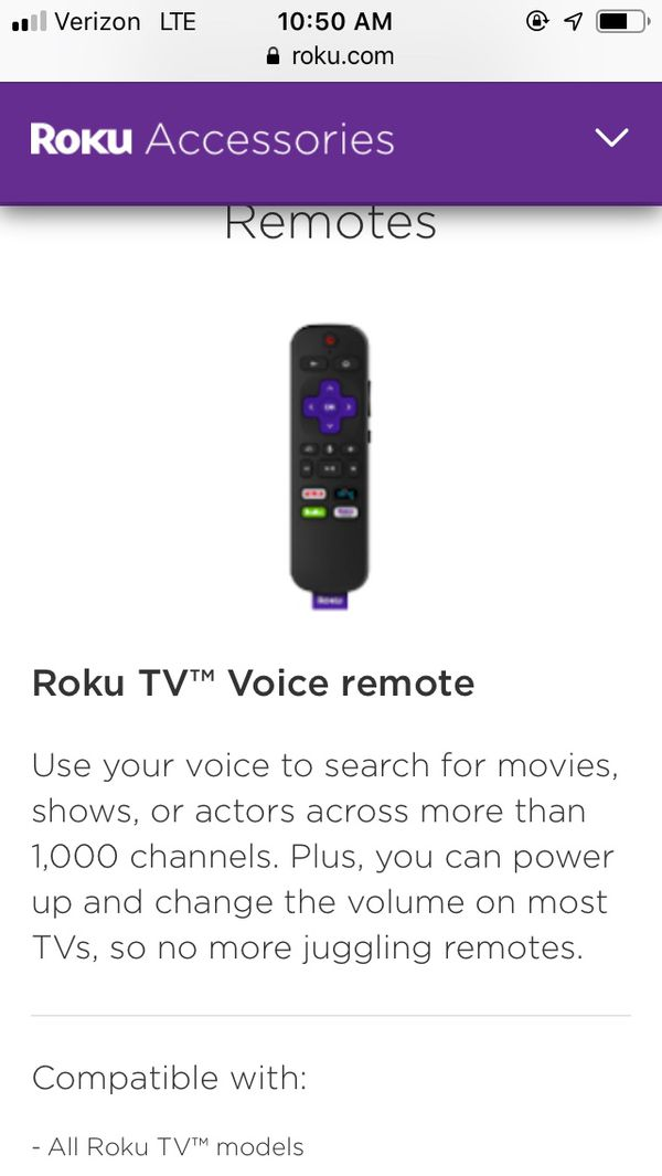 Roku TV Voice Remote for Sale in Portland, OR - OfferUp