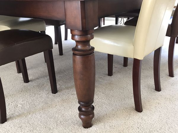 Pottery Barn Large Dining Room Table, 10 chairs