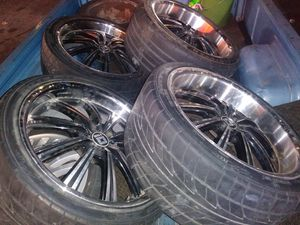 Ford mustang 20inc rimes and tires for Sale in Las Vegas, NV