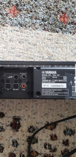 YAMAHA : YAS-101 sound bar / subwoofer for Sale in Washington, DC