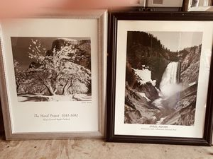 Ansel Adams framed prints in glass frames. Priced as a set but will sell individually for Sale in Palm Bay, FL