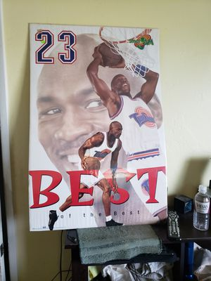 """Michael Jordan Space Jam Large 23""""by 35"""" Poster for Sale in San Diego, CA"""
