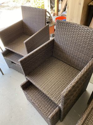 Patio Chairs and Ottomans for Sale in Vista, CA