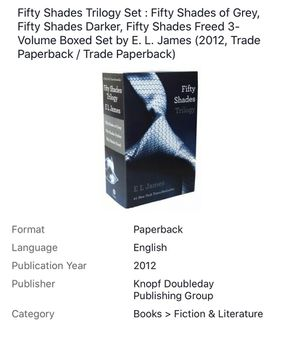 Fifty Shades Trilogy Set : Fifty Shades of Grey, Fifty Shades Darker, Fifty.... Condition is Like New for Sale in Marietta, GA