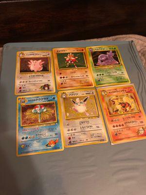 Set of 6 vintage Japanese Pokemon Cards for Sale in Litchfield Park, AZ