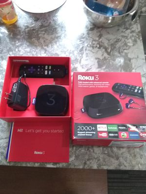 ROKU 3 STREAMING DEVICE with VOICE REMOTE for Sale in SeaTac, WA