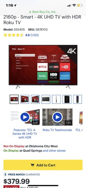 55in TCL Roku TV Edition for Sale in Moore, OK