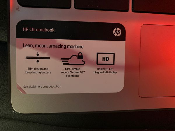 HP chrome book laptop 11 in