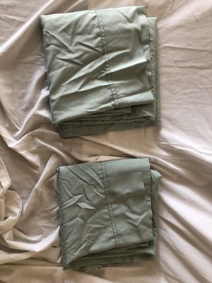 Curtain panels – 2 pieces – Green/Teal for Sale in Richmond, TX