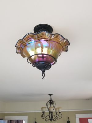 Beautiful glass light fixture for Sale in Seattle, WA