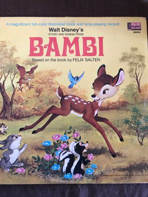 """Walt Disney's Story and Songs From Bambi 12"""" Vinyl Record/Book 1969 VG+ 3903 for Sale in Riverside, CA"""