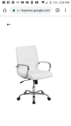 White chair adjustable height for Sale in West Valley City, UT