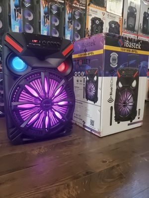 "Bocina Nueva Bluetooth Karaoke Speaker 15"" Woofer LED Lights / Wireless 🎤 / USB / MICRO SD CARD / FM RADIO 📻 . 📦 Rechargeable 🔋 +++ for Sale in Los Angeles, CA"