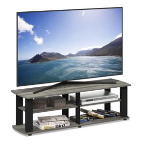 Tv stand console french grey oak / black - New for Sale in Taylor, MI