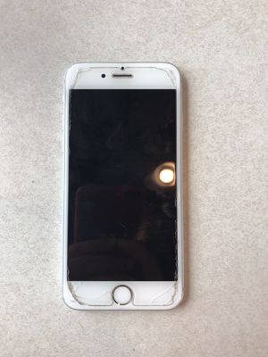 128 gb iPhone 6s screen protector is glass and plastic on top of the glass so plastic is peeling off and the glass is slightly cracked the screen its for Sale in Hialeah, FL