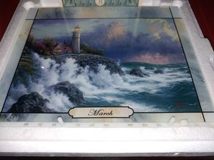 Thomas Kinkade March illuminated seasons of light calendar collection for Sale in Hesperia, CA