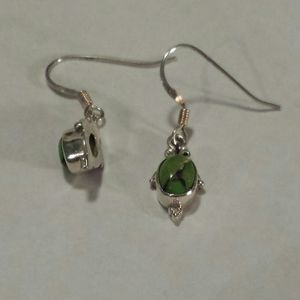 Mojave Green Turquoise Earrings in Sterling Silver for Sale in Lawrenceville, GA