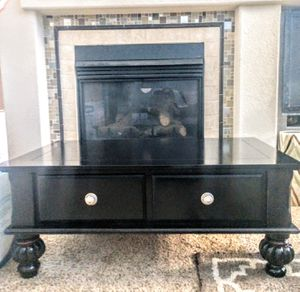 Black Stressed 2-Cedar Drawer Coffee Table w/Awesome Feet for Sale in Arvada, CO