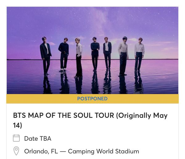 Selling BTS sold out Map of the soul concert