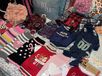 Complete Small Puppy Wardrobe & New Carrier for Sale in Vancouver,  WA