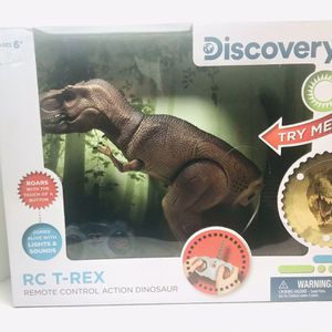 Remote Control RC T Rex Dinosaur By Discovery Kids Electronic Toy Action Figure for Sale in Pawtucket, RI