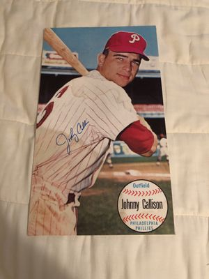 "Johnny Callison, Philadelphia Phillies 1964 All-Star MVP, Autographed 16"" Long x 9 1/2 "" Wide, Already Dri-Mounted, for framing! for Sale in Fairfax, VA"