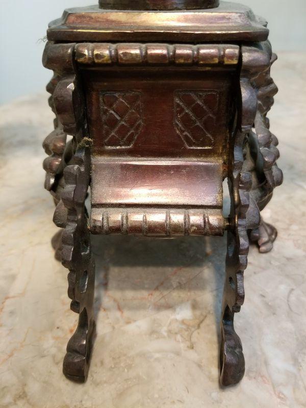 Antique, bronze, 23 inch tall candelabras
