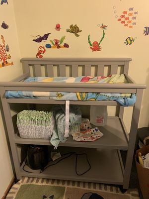 Grey liberty changing table for Sale in Staten Island, NY