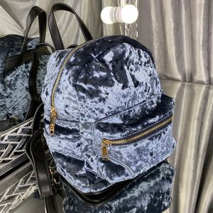 Navy Blue Velvet Mini Backpack for Sale in Sunny Isles Beach, FL